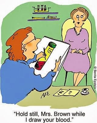 """A Phlebotomy Case - """"Hold still, Mrs. Brown while I draw your blood"""""""