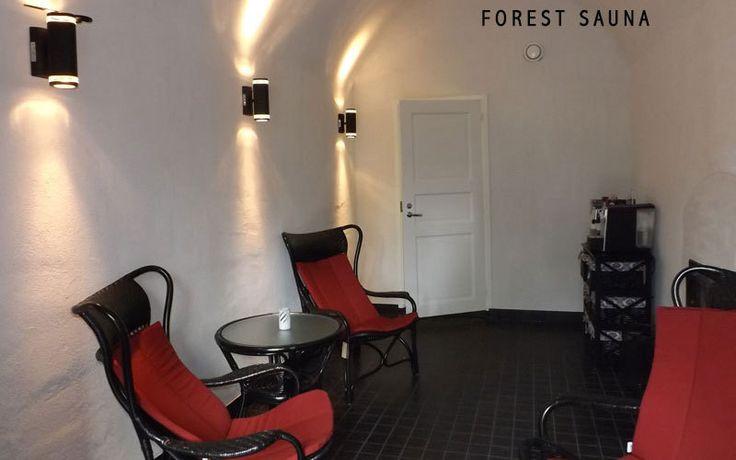 Relaxation room after the sauna:  http://www.kontikifinland.com/holidays/destination/1192792/rural-saunas/day-trip-sauna-wednesdays