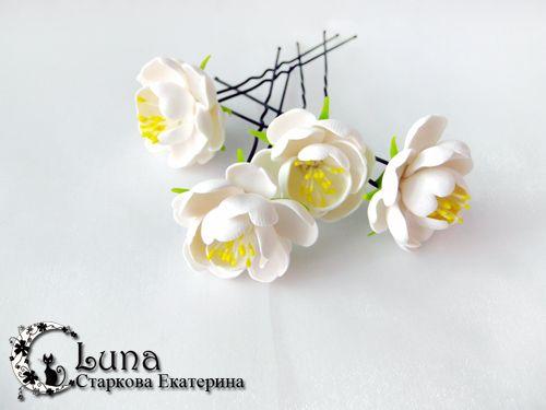 flower hairpins tutorial