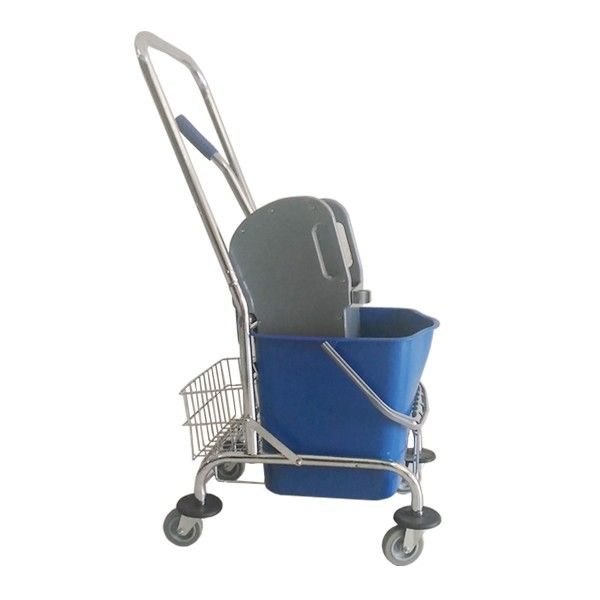 Single Bucket 23 L Stainless Trolley.  - Type:302KL-23DXBR - Capasitas :23L - Wringer:Down Press - Color:Bucket Blue, Wringer Grey - product size :43x33x94cm - Harga per unit.  http://alatcleaning123.com/ember/1679-single-bucket-23-l-stainless-trolley.html  #ember #bucket #stainlesstrolley #alatcleaning