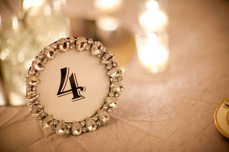 Rhinestone Sparkle Table Number Frames