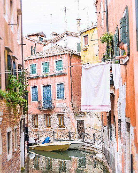 Venice Laundry Photo, Venice Canal Photo, Grand Canal Venice, Laundry Photograph, Venice Print, Canal Print, Italy Photograph, Italy Print