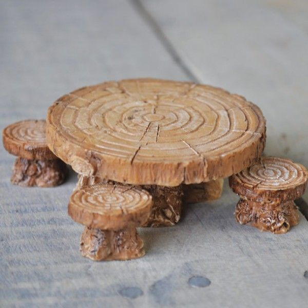 WOODLAND TABLE & STOOL SET - A perfect way for the fairies to gather and…