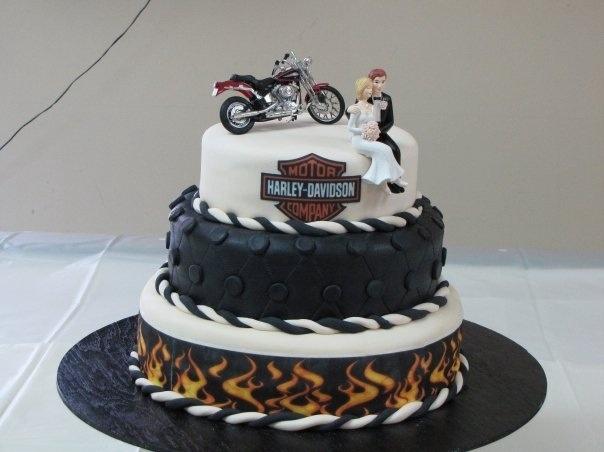 38 best harley wedding cakes images on pinterest | wedding stuff