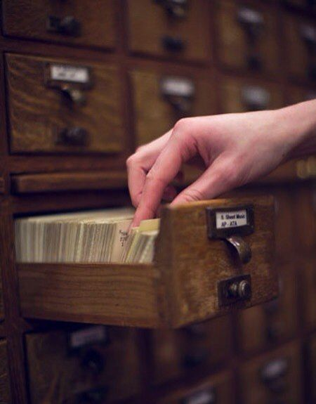 I loved the card catalog. I loved using the tracings to help with research. I loved cataloging books and even typing up those multiple cards (don't forget the one for the master catalog in the book processing room)!