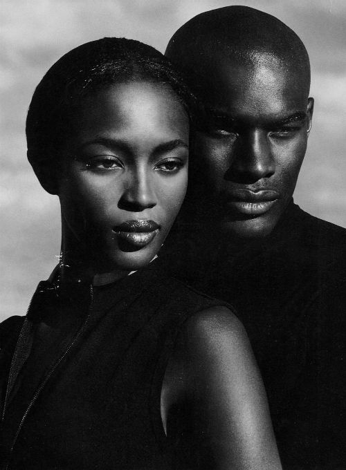 Naomi Campbell & Tyson Beckford for Ralph Lauren Polo Sport Ad Campaign.