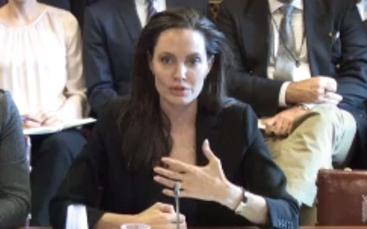 Angelina Jolie joins William Hague at a House of Lords committee to highlight   their campaign against rape as a weapon of war