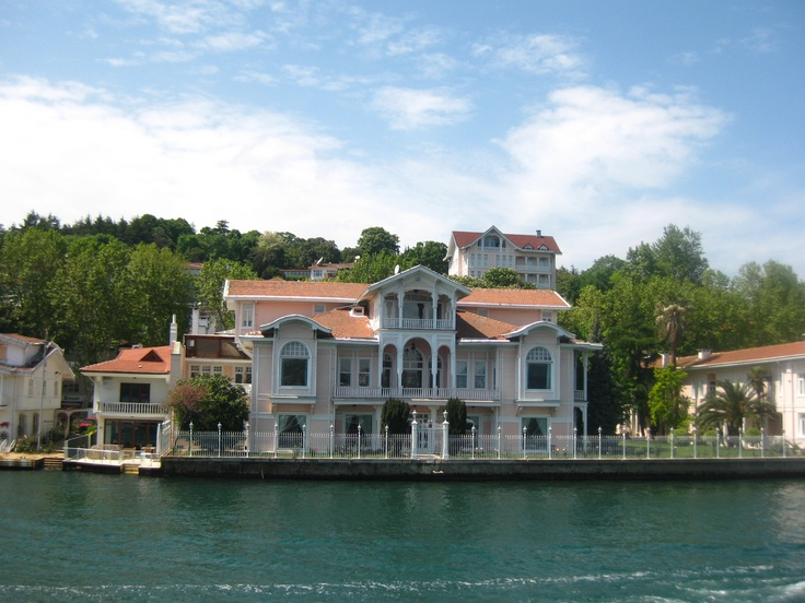 """The shores of Bosphorus - beautiful old mansions... ISTANBUL """"Şehzade Burhanettin Efendi Yalısı"""" one of the biggest mansions with 64 rooms..."""