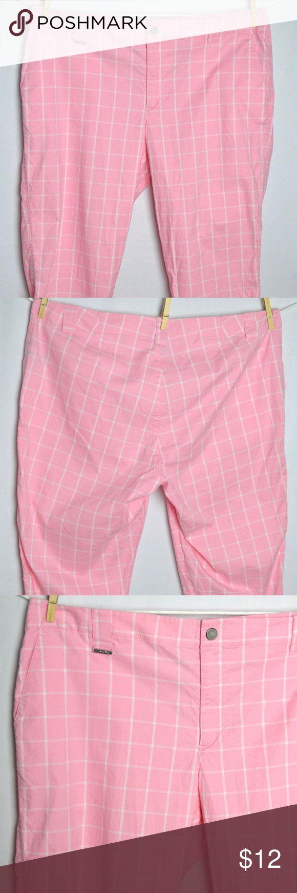 "Ralph Lauren pink golf capri pants size 16 A pair of excellent used condition Ralph Lauren capri golf pants. Size 16, in pink.  Dimensions:-  Waist:- 39"" (19.5"" across) Hips:- 22"" Length:- 31"" Inseam:- 21"" Cuff:- 9.5""  Thanks for viewing! Ralph Lauren Pants Capris"