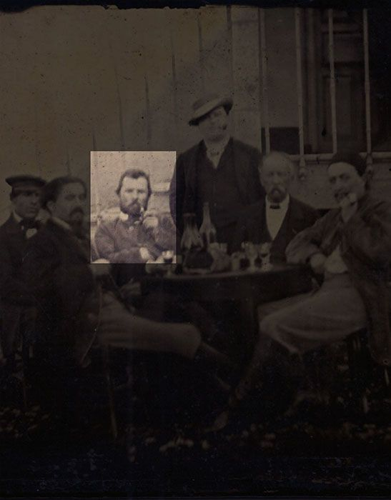 This may be the only known photo of Van Gogh as an adult artist.