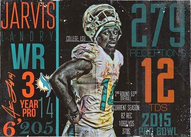 Jarvis Career Stats @juiceup14 • #dolphins #miamidolphins #miami #nfl #pick6artwork
