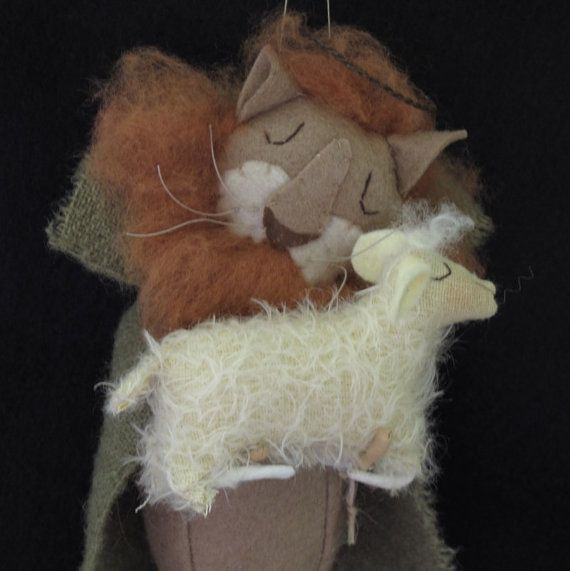 Peace on Earth   Lion and Lamb Ornament  by cheswickcompany, $6.95
