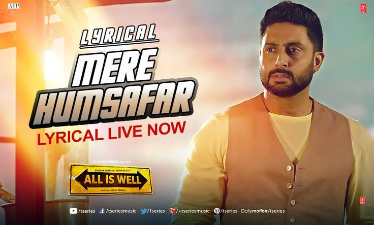 The most romantic song of the season heart emoticon   *MERE HUMSAFAR* from #AllIsWell & its lyrical is here to make your Saturday afternoon a perfect one!!  ENJOY IT HERE--> https://www.youtube.com/watch?v=B2vAPCev3PI&list=PL9bw4S5ePsEHd8iwy492umekxcMmzTWOC&index=30