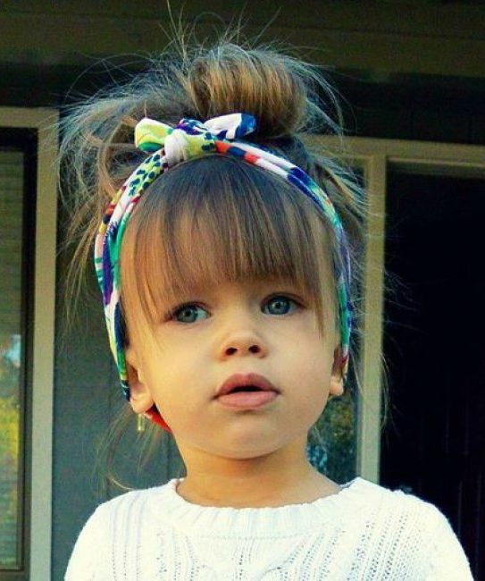 Full Fringe Little Girls Hairstyles