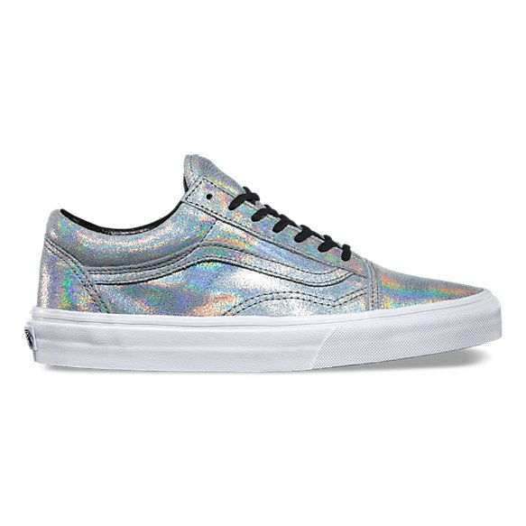 iridescent old skool vans shoes ladies size 7