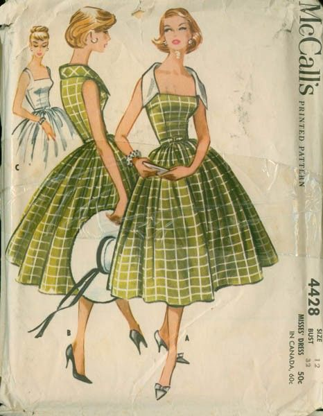 I want to find this vintage pattern - I love the white dress in the background