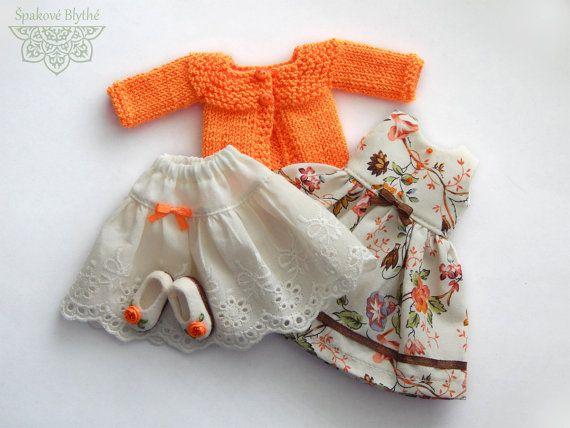 Orange mood  OOAK outfit for Blythe by ShpakBlythe on Etsy