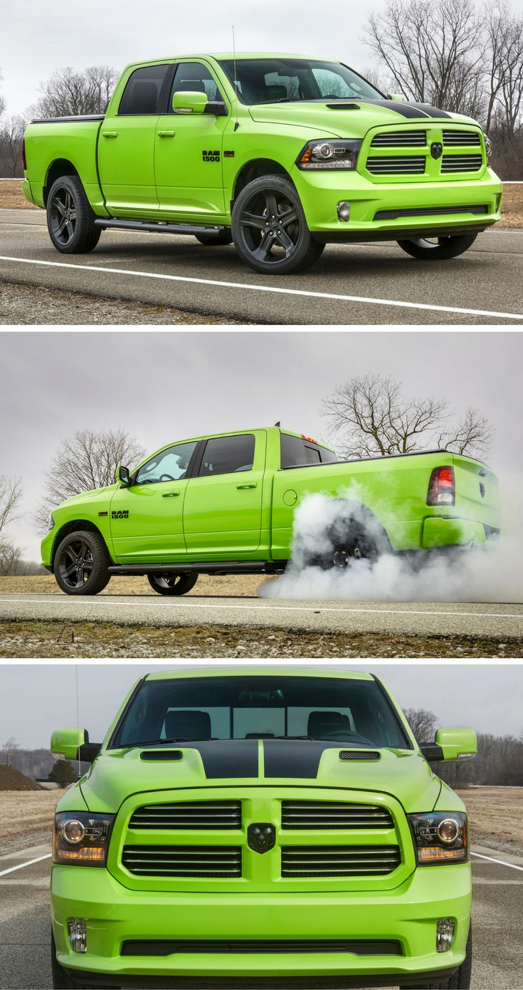 The Ram 1500 Sublime Sport and Rebel Blue Streak swipe from Dodge paint booths