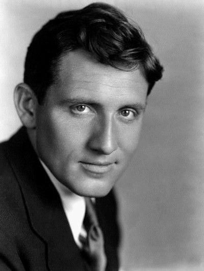 Spencer Tracy, 1930's (1900-1967). Born in Madison, WI, the youngest son of an Irish-Catholic family. As a boy, he got into trouble for truancy and getting into fights. At 18 he enlisted in the Navy during WWI. He never saw action. After the war, he studied acting in NYC. He appeared in several Broadway shows before joining MGM. He starred in 75 films from 1930 to 1967. He was nominated for nine Oscars for Best Actor and won two. (Source: Biography.com)