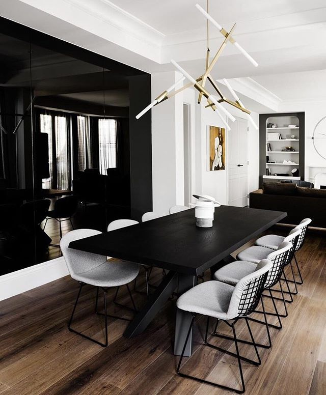 Documenting Inspiration Interiordesign Designinspiration Decorating Blackinteriors Black Pint Dining Room Design Dining Room Interiors Black Dining Room