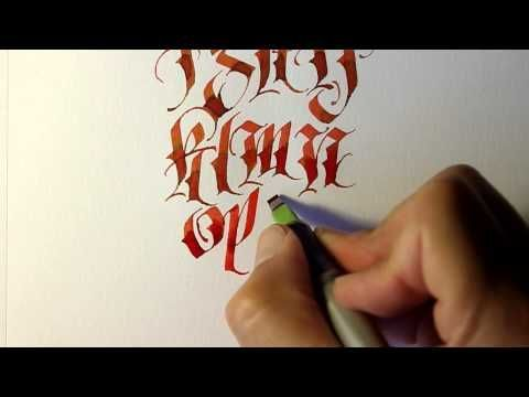 Parallel Pen Calligraphy - Lower Case - YouTube