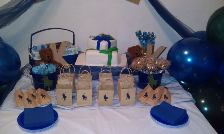 polo theme baby shower cake and cake table tlite polo baby shower theme 1600x957