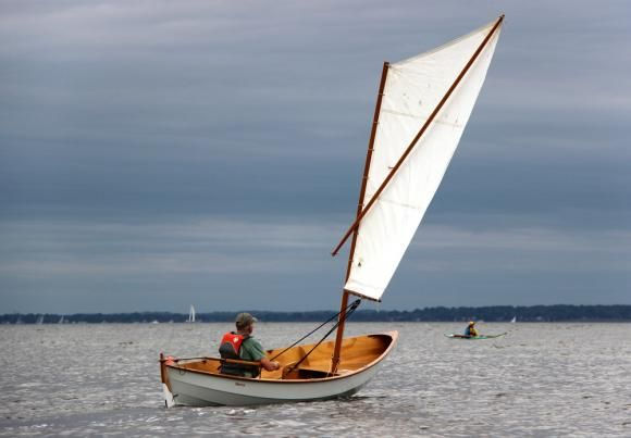 Skerry: 15-foot Double-Ender - Fast Rowing and Sailing Dinghy | Sailing | Pinterest | Sailing ...