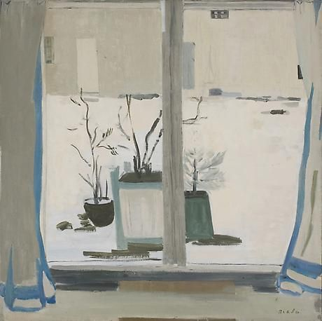 Janice Biala, Snow in the Countryland 1976 oil on canvas 47 x 47 1/2 inches