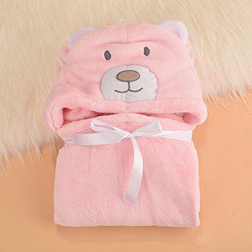 Con capucha toalla de mano bebé el niño Lexi   De tacto agradable Poncho albornoz de microfibra   Café con diseño de bebé toalla de capucha   Divertido toalla de baño con capucha Rosa Bär