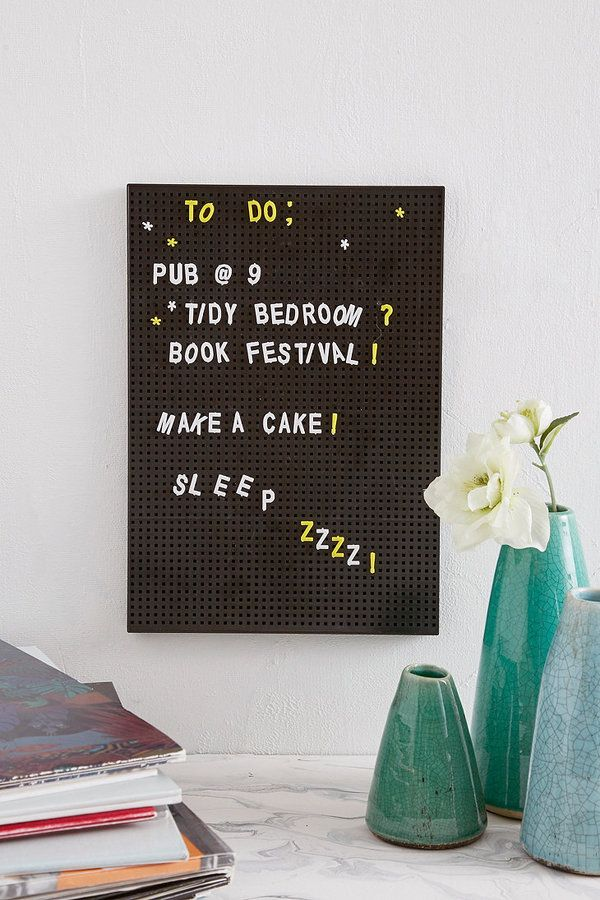 Unorganised teens are a total cliche, but if you know one then this peg board list is a perfect gift to help them remember (also just great for displaying cute messages/quotes!)
