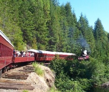 Skunk Train - Fort Bragg, California. One of the best train trips you can do in a day!