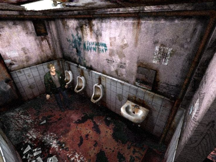 the most accurate depiction of a public toilet. all bloody n shit