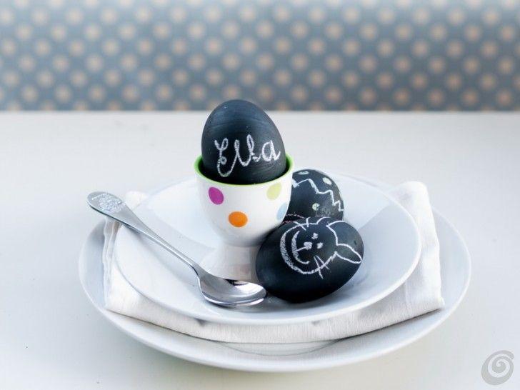 Idee fai da te :: Le uova pasquali nere