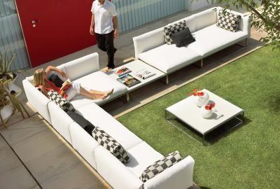 Cloud 100 x 150 Left End Unit - Half Arm   Gloster Furniture