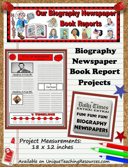 9 best Book Reports images on Pinterest Book reports, Books and - newspaper templates for kids