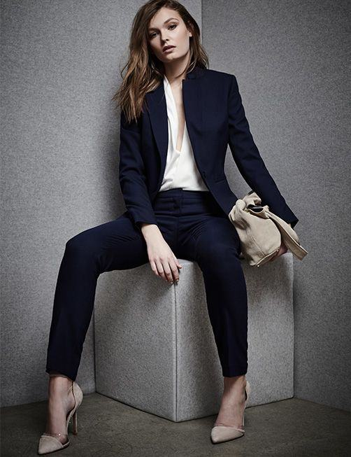 Womens Workwear : Reiss Suits...be sure to be more modest around the chest.