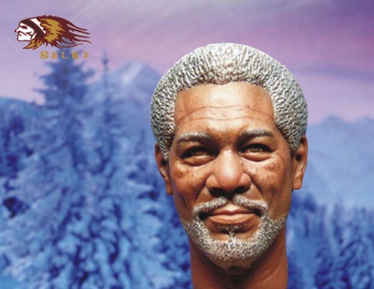 BELET 003 Custom Made 1/6 Morgan Freeman Head Sculpt FOR Wayne CEO Lucius Fox #CustomMade