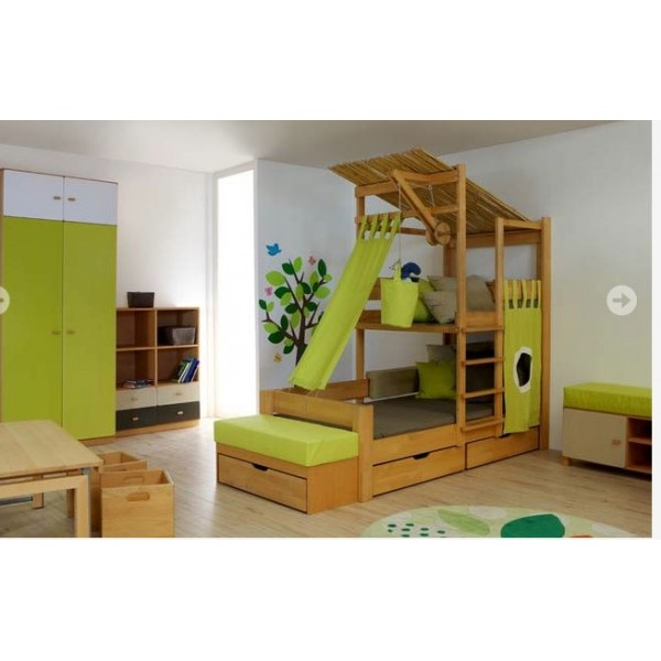 chambre cabane garcon good formidable barriere de lit en bois blanc lit cabane enfant timeo. Black Bedroom Furniture Sets. Home Design Ideas