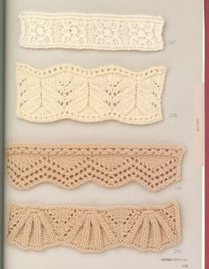 knit lace edgings