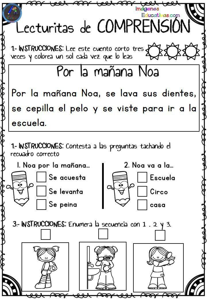 be10e1089 Lecturitas de comprensión para Infantil y primer ciclo de primaria Os  dejamos estas fantásticas actividades para trabajar la comprensión lectora  de los más ...