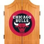 NBA Chicago Bulls Wood Finish Dart Cabinet Set