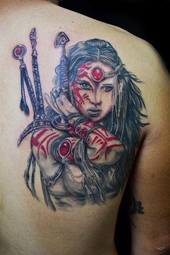 Viking Woman Warrior Tattoos Best 25 Viking Warrior Tattoos Ideas