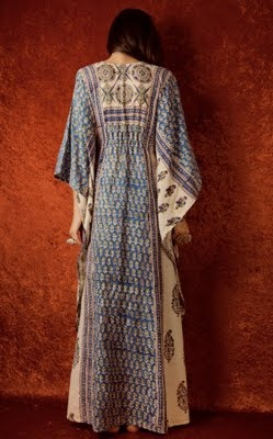 from the july 20, 2011 post from blue hydrangea blog front view of great vintage caftan