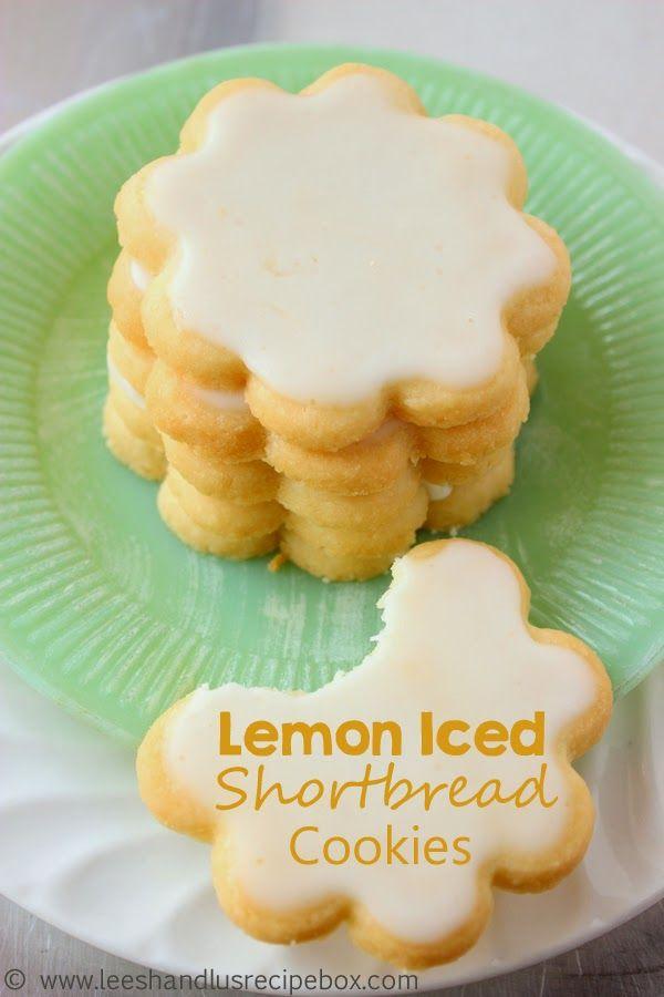 Lemon Iced Shortbread Cookies. Fresh cookie recipe for Spring.