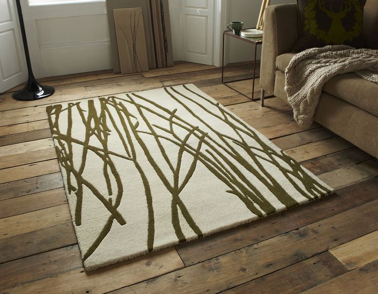 Elements El 10 Natural Green Wool Rug 90 X 150cm 2 9 4