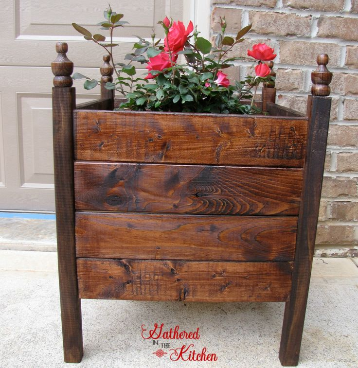 $12 DIY Planter Boxes | Gathered In The Kitchen | Gathered In The Kitchen