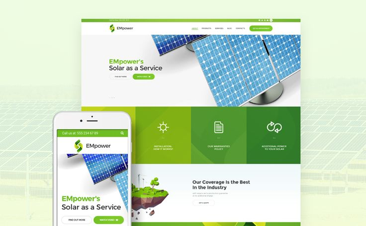 Best 12 Environmental & Clean Energy WordPress Themes (Solar, Wind and Recycling) - EMpower (WordPress template) Item Picture