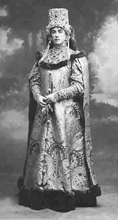 Princess Maria Pavlovna Chavchavadze (1876-1958), wearing a boyarina costume