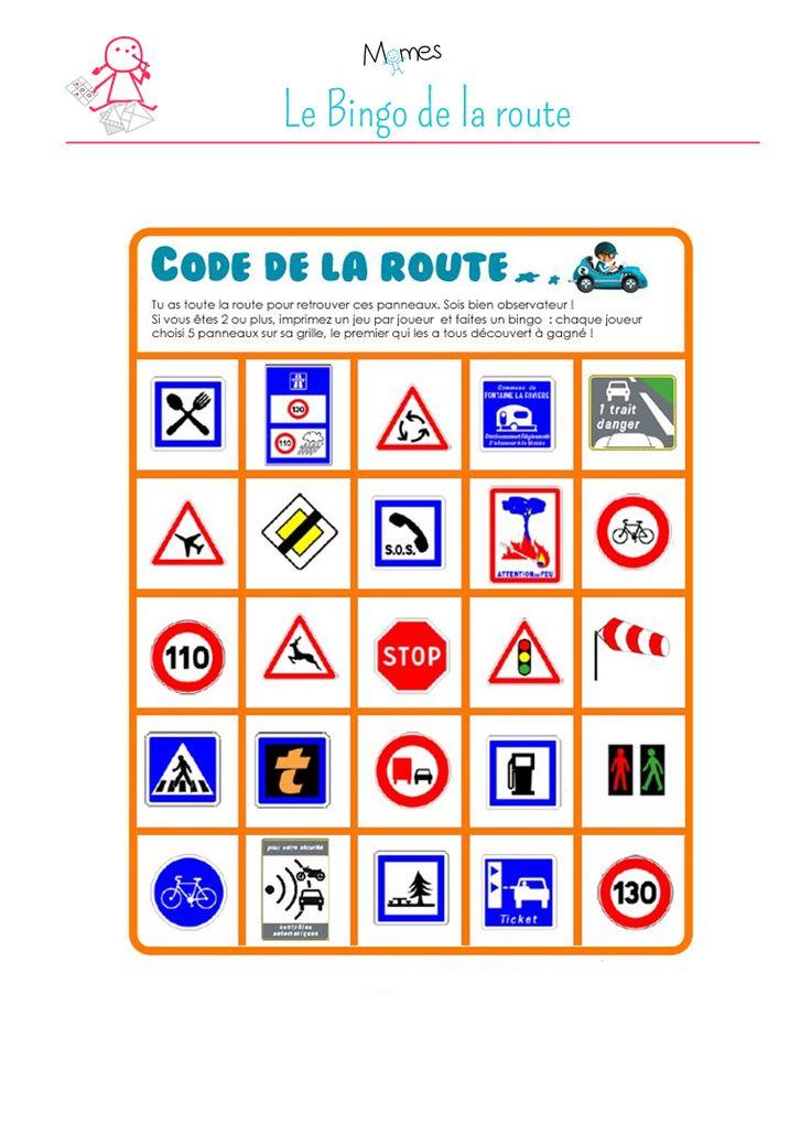 Imprimez le jeu «Code de la route » de Momes pour chaque enfant. Pratique : on peut jouer seul ou à plusieurs à ce jeu ! Le but est de retrouver les panneaux de signalisation du jeu, sur la route !