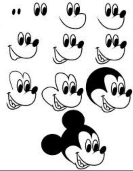 Dessiner Mickey... super facile et rapide!